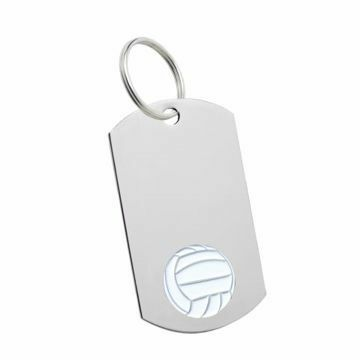 Volleyball Key Tag   Engraving Included