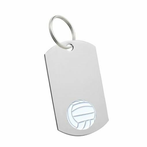 Volleyball Key Tag | Engraving Included