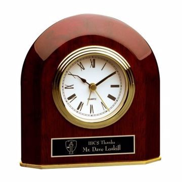 Engraved Arched Table Clock | Engraving Included