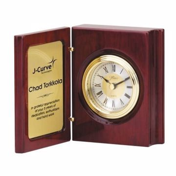 Engraved Book Clock | Engraving Included