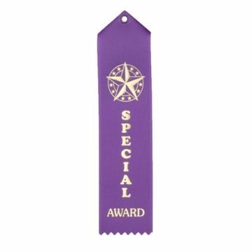 Special Award Card & String Ribbon | Purple