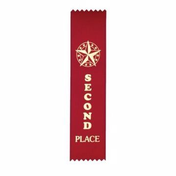 Award Ribbon 2nd Place Strip | Red