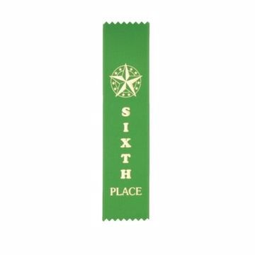 Award Ribbon 6th Place Strip | Green