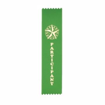 Award Ribbon Participant Strip | Green