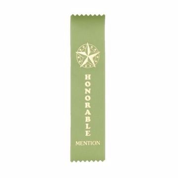 Award Ribbon Honorable Mention Strip | Light Green