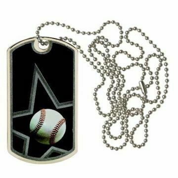 Black Baseball Dog Tag | Engraving Included