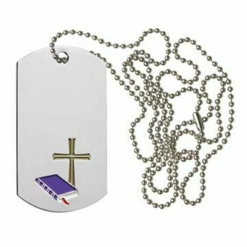 Cross and Bible Dog Tag | Engraving Included