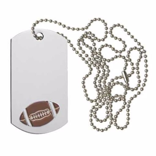 Football Dog Tag | Engraving Included