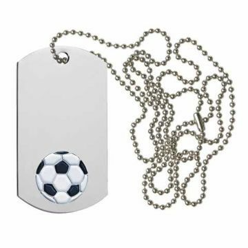 Soccer Dog Tag | Engraving Included