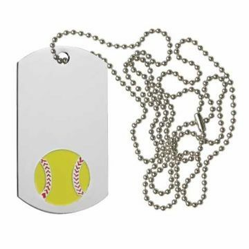 Softball Dog Tag | Engraving Included