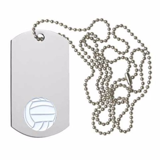 Volleyball Dog Tag   Engraving Included