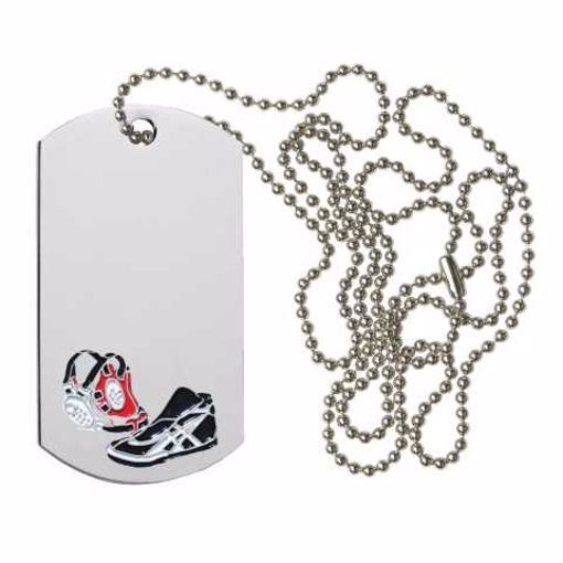 Wrestling Dog Tag | Engraving Included