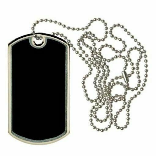 Black Blank Dog Tag | Engraving Included