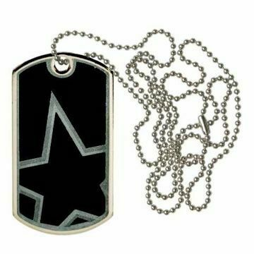 Black Star Dog Tag | Engraving Included