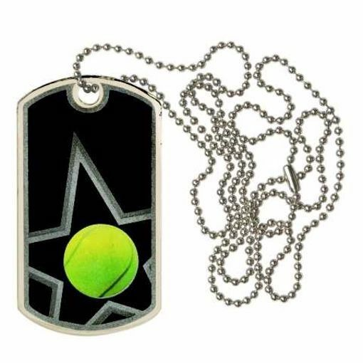 Black Tennis Dog Tag   Engraving Included