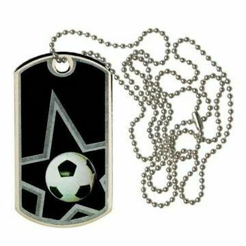 Black Soccer Dog Tag | Engraving Included