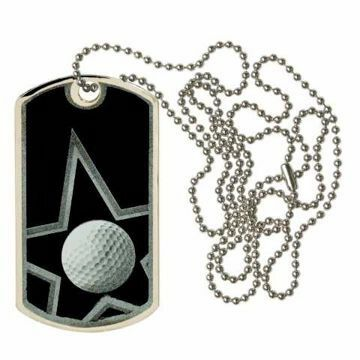 Black Golf Dog Tag | Engraving Included