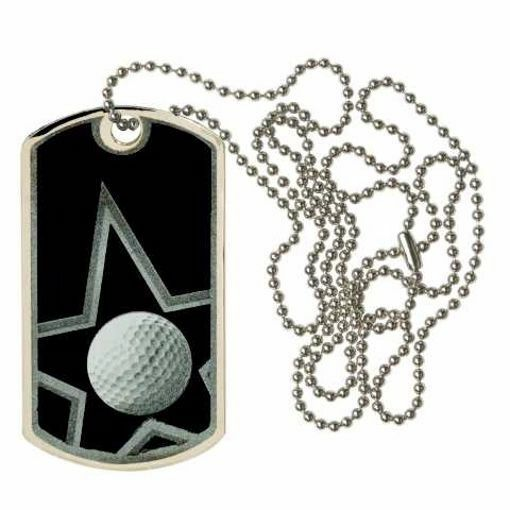 Black Golf Dog Tag   Engraving Included