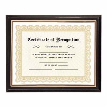 Gloss Black Certificate Plaque Frame