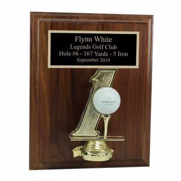 Hole In One Display Plaque | Engraving Included