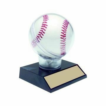 Baseball Holder On Black Base | Engraving Included