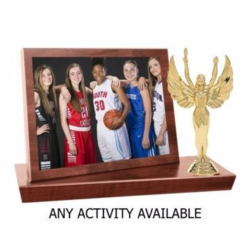 CFS73 Sport Plaque Stand-Up Photo Holder | Engraving Included