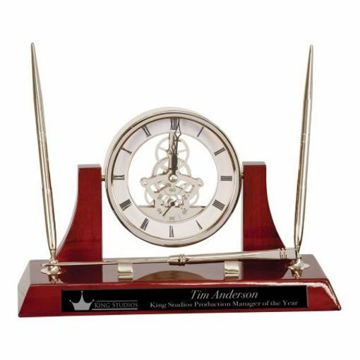 Executive Rosewood Clock Pen Set   Engraving Included