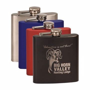 Engraved Stainless Steel Flask | 4 Colors Available | Engraving Included