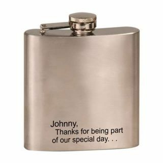 Engraved Stainless Steel Flask | Engraving Included