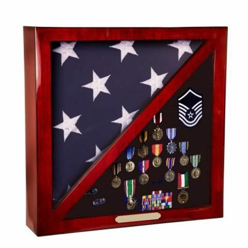 Memorabilia Flag Shadow Box| Engraving Included