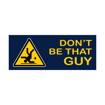 """2"""" x 5"""" Printed Plastic Sign 
