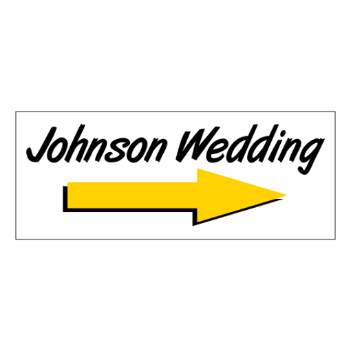"""4"""" x 10"""" Printed Plastic Sign 