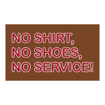 "6"" x 10"" Printed Plastic Sign 