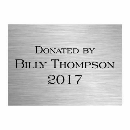 5 x 7 Laser Engraved Stainless Steel Plate