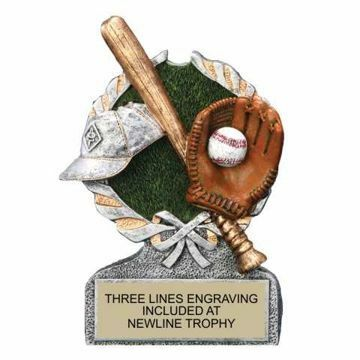 Centurion Resin Baseball Trophy | Engraving Included