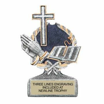 Centurion Resin Cross And Bible Trophy | Engraving Included