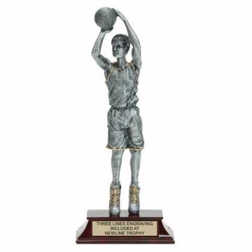 Elite Resin Basketball Trophy Male | Engraving Included