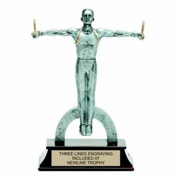 Elite Resin Gymnastics Trophy Male | Engraving Included