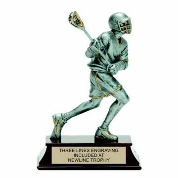 Elite Resin Lacrosse Trophy Male | Engraving Included
