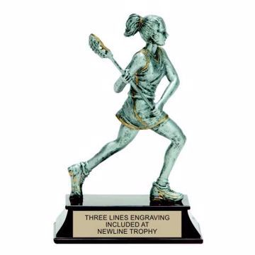 Elite Resin Lacrosse Trophy Female | Engraving Included