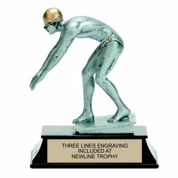 Elite Resin Swimming Trophy Male | Engraving Included