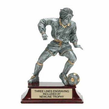 Elite Resin Soccer Trophy Female | Engraving Included