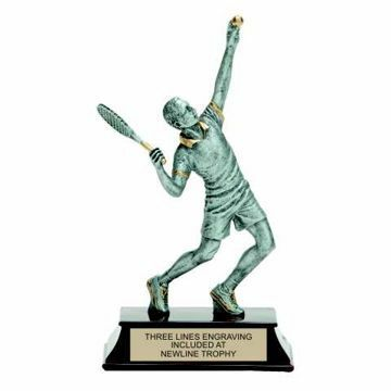 Elite Resin Tennis Trophy Male | Engraving Included