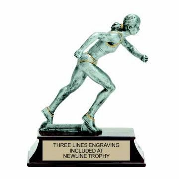 Elite Resin Track Trophy Female | Engraving Included