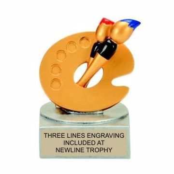 Color Tek Resin Art Trophy | Engraving Included