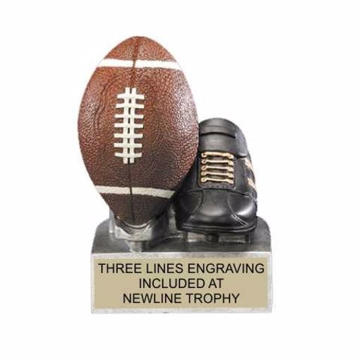 Color Tek Resin Football Trophy | Engraving Included