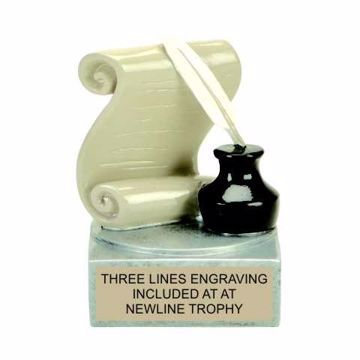 Color Tek Resin Literature Trophy | Engraving Included