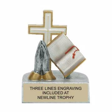 Color Tek Resin Religion Trophy | Engraving Included