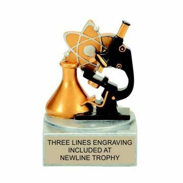 Color Tek Resin Science Trophy | Engraving Included