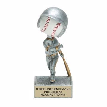 Baseball Bobble Trophy | Engraving Included